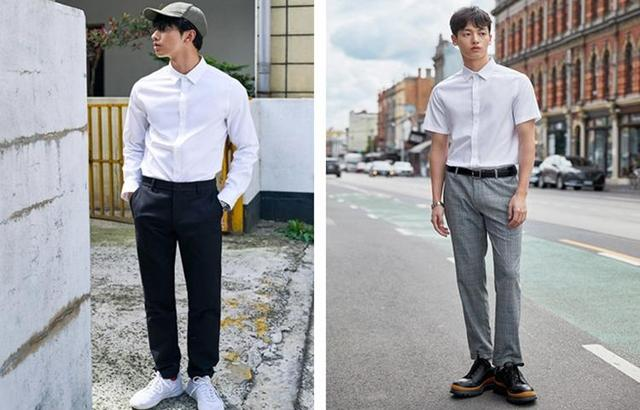 衬衫穿的方法不对,身材再好也白费